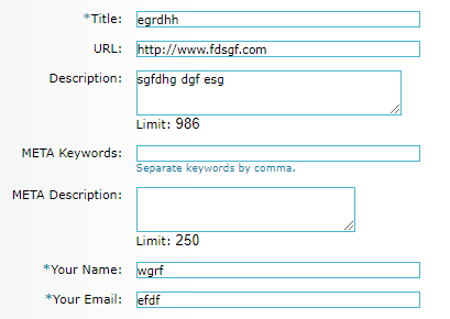 Directory Submission Form