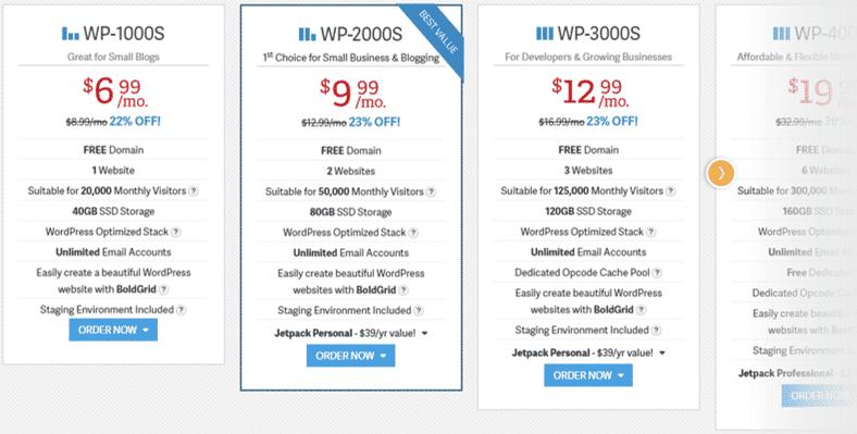 InMotion Managed WordPress Hosting Plans