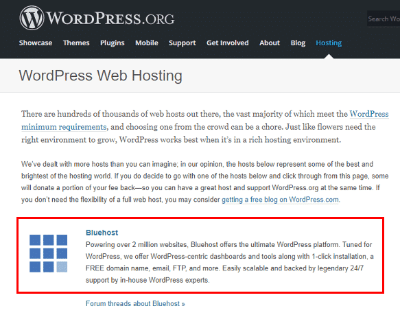 Recommended WordPress Hosting