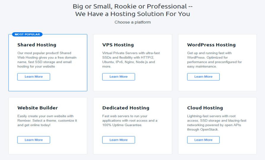 dreamhost hosting plans