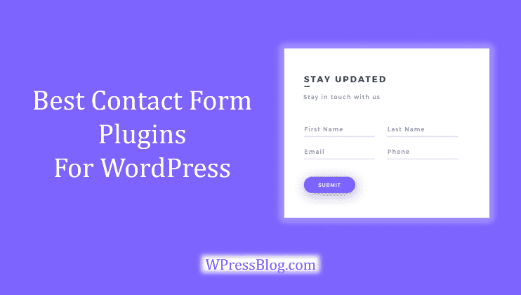 Best Contact Form Plugins For WordPress Free