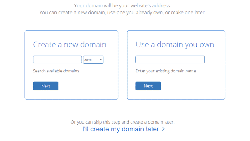 Pick Bluehost Domain Name