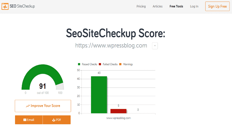 Seo Site Checkup Best SEO Tools
