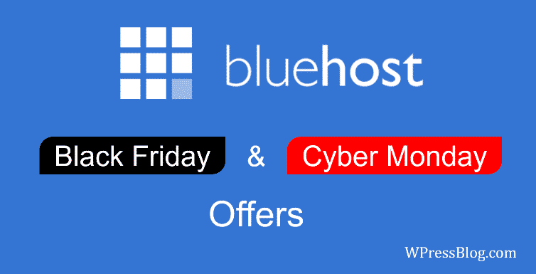 Bluehost Black Friday Deals 2019
