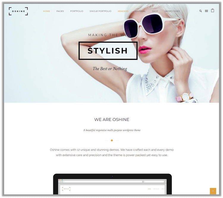 Oshine Best Portfolio Themes For WordPress