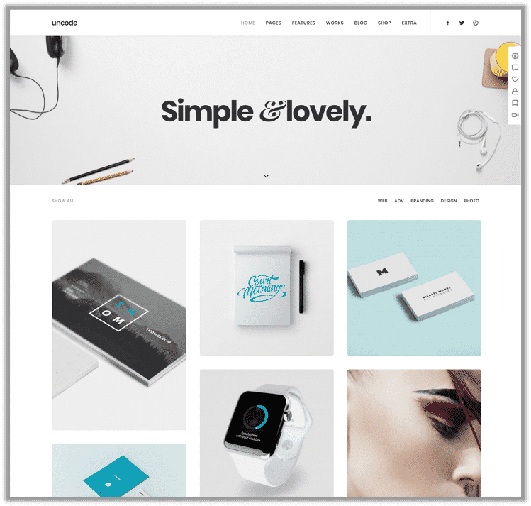 Uncode Best WordPress Themes for Portfolio