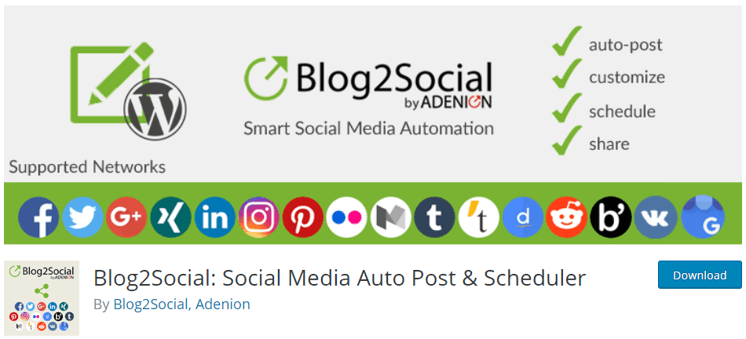Blog2Social Social Media Auto Post & Scheduler
