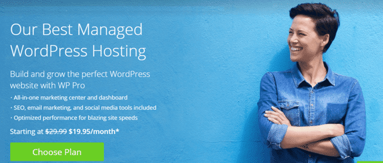 Bluehost Managed WordPress Hosting Services