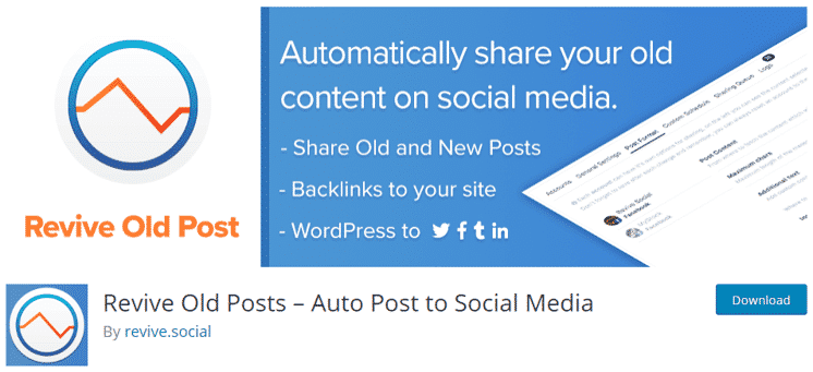 Revive Old Posts Auto Post to Social Media