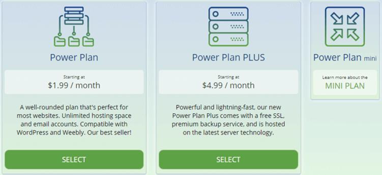 WebHostingPad Hosting Plan