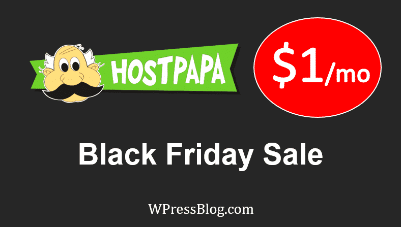 HostPapa Black Friday Deals Cyber Monday Sale Discount 2019