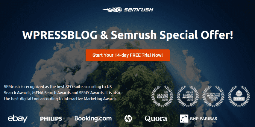 SEMrush Free Trial Special Offer
