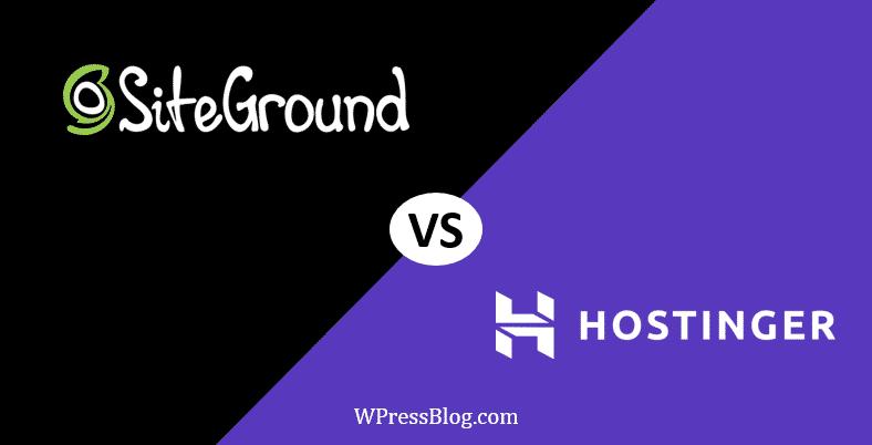 SiteGround vs Hostinger