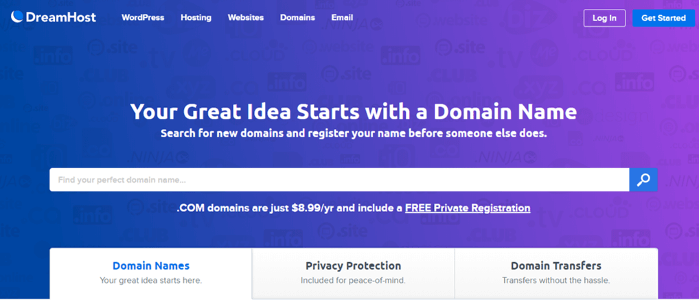 Dreamhost Cheapest Domain Name Provider