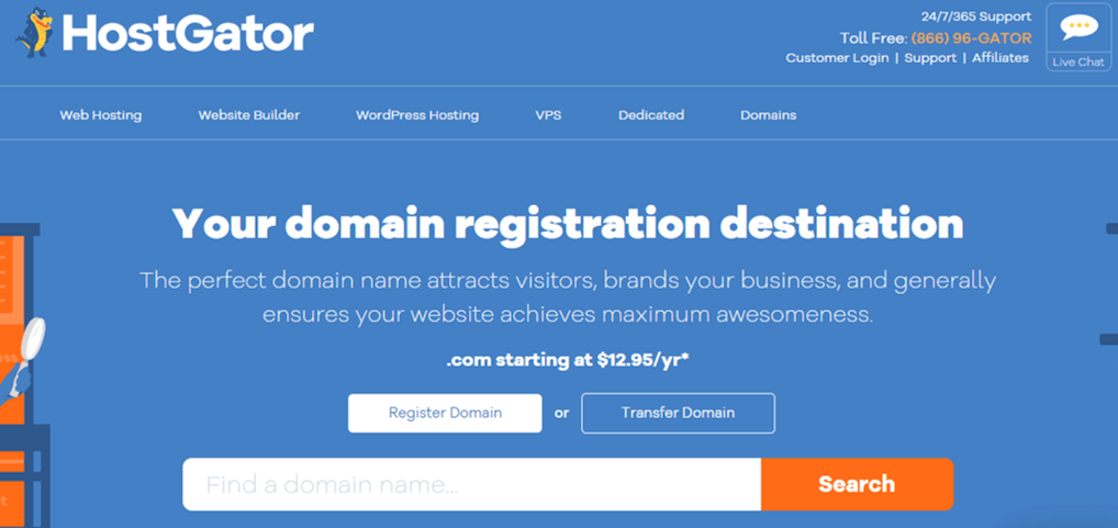 HostGator One of the Best Domain Name Registars
