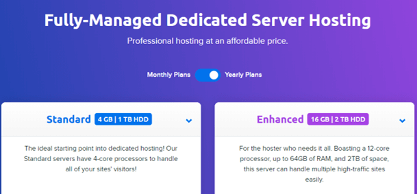 Dreamhost Managed Dedicated Hosting Provider