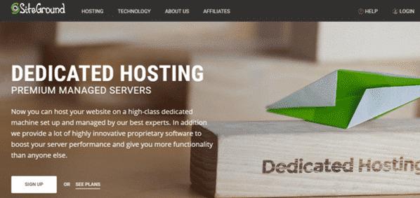 SiteGround Dedicated Server Hosting
