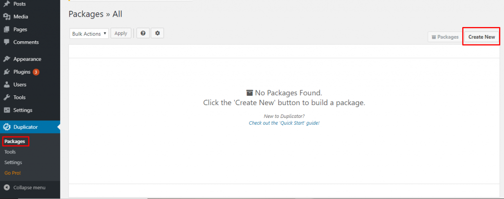 Create New Package