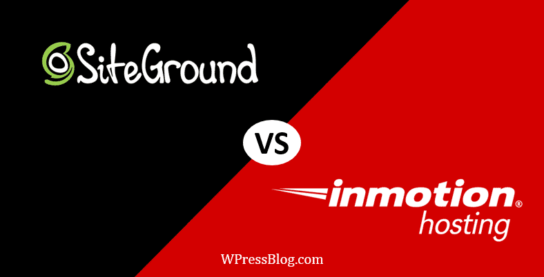 SiteGround vs InMotion Hosting