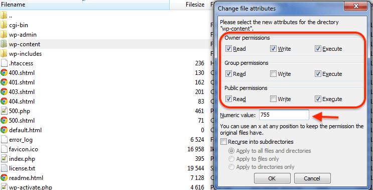 Adjusting file permissions
